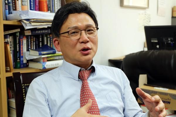오문성 한양여대 교수. 출처=김동환/코인데스크코리아