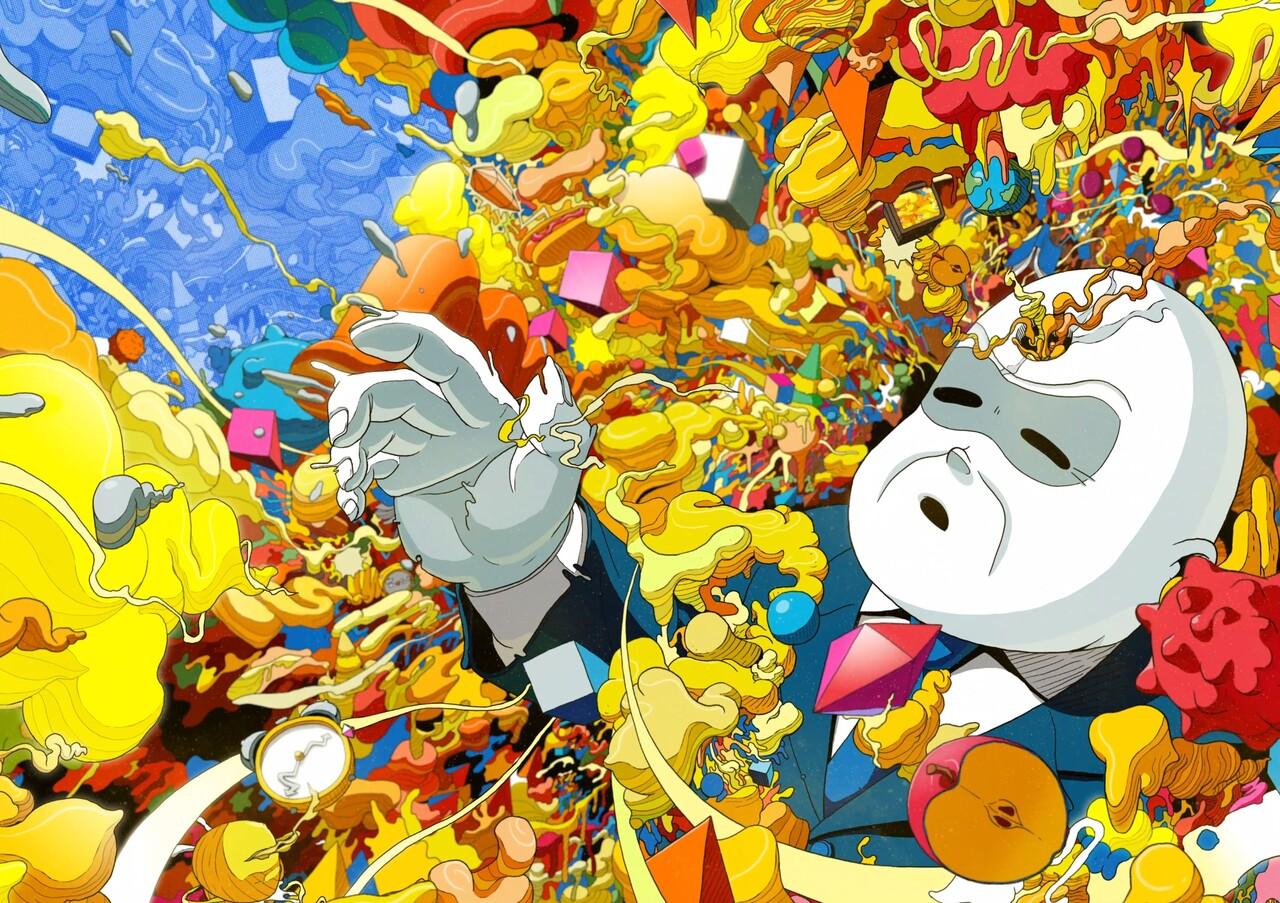 미스터 미상의 작품 'Odd Dream'. (위 그림을 누르면 해당 작품의 슈퍼레어 사이트로 이동한다. 거기서 '재생' 버튼을 누르면 애니메이션 작품을 감상할 수 있다.)